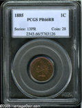 Proof Indian Cents: , 1885 1C PR66 Red and Brown PCGS....