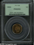 Proof Indian Cents: , 1894 1C PR65 Red PCGS....