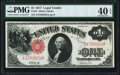 Fr. 37 $1 1917 Legal Tender PMG Extremely Fine 40 EPQ