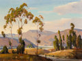 Fine Art - Painting, American, Orrin White (American, 1883-1969). Santa Paula Valley. Oilon canvas. 18 x 23-3/4 inches (45.7 x 60.3 cm). Signed lower ...