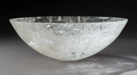 A Large Rock Crystal Centerpiece Bowl, 20th century 5-1/4 x 14-7/8 inches (13.3 x 37.8 cm)