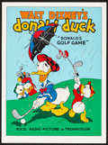 "Movie Posters:Animation, Donald's Golf Game & Other Lot (Circle Fine Art, R-1980s) Rolled, Very Fine+. Fine Art Serigraphs (2) (22.5"" X 30.5"" & 21"" X... (Total: 2 Items)"