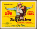 "Movie Posters:Western, Along Came Jones (RKO, 1945) Folded, Very Fine. Half Sheet (22"" X 28"") Style B. Western...."