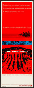 "Movie Posters:Western, The Wild Bunch (Warner Brothers, 1969) Rolled, Fine/Very Fine. Insert (14"" X 36""). Western.. ..."