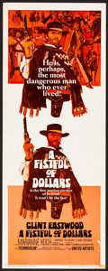 "Movie Posters:Western, A Fistful of Dollars (United Artists, 1967) Rolled, Fine/Very Fine. Insert (14"" X 36""). Western...."