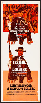 """A Fistful of Dollars (United Artists, 1967) Rolled, Fine/Very Fine. Insert (14"""" X 36""""). Western"""