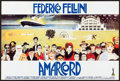 """Movie Posters:Foreign, Amarcord (Action Cinemas, R-1980s) Folded, Very Fine-. Horizontal French Half Grande (47.25"""" X 31.5"""") Giuliano Geleng Artwor..."""