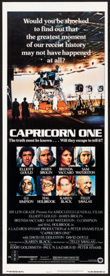 """Capricorn One (Warner Brothers, 1978) Rolled, Very Fine/Near Mint. Insert (14"""" X 36""""). Thriller"""