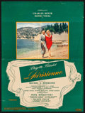"Movie Posters:Foreign, La Parisienne (Cinedis, 1957) Folded, Fine/Very Fine. French Lobby Poster (18.75"" X 25""). Foreign...."