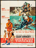 """Movie Posters:James Bond, Thunderball (United Artists, 1965) Folded, Fine/Very Fine. French Grande (47"""" X 63""""). Frank McCarthy and Robert McGinnis Art..."""