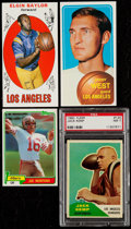 Basketball Cards:Lots, 1960-81 Fleer/Topps Basketball and Football Stars & HoFers lot of 4. ...