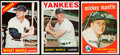 Baseball Cards:Lots, 1959-66 Topps Mickey Mantle Trio (3)....