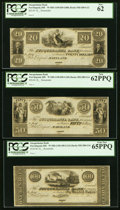 Obsoletes By State:Maryland, Port Deposit, MD- Susquehanna Bank $20; $50; $100 18__ Remainders PCGS Graded.. ... (Total: 3 notes)