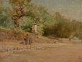 Fine Art - Painting, American, Frank Alfred Bicknell (American, 1866-1943). Nikko. Oil oncanvas. 18-1/4 x 24-1/4 inches (46.4 x 61.6 cm). Signed and t...