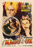 "Movie Posters:Fantasy, The Wizard of Oz (CIA, 1948). Very Fine- on Linen. First Post-War Release Italian 2 - Fogli (39.5"" X 55"") Carlantonio Longi ..."