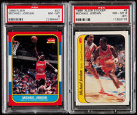 1986 Fleer Basketball Complete Set (132) With Stickers Set (11)