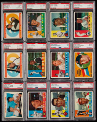 1960 Topps Baseball Partial Set (341) - Includes 50 PSA Graded Cards!