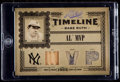 Baseball Cards:Singles (1970-Now), 2005 Playoff Prime Cuts Babe Ruth Timeline Bat/Jersey/Pants Relic Card #T-21 - #'d 5/50. ...