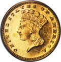Proof Gold Dollars, 1887 G$1 PR65 Cameo PCGS. CAC....
