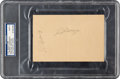 Baseball Collectibles:Others, 1936-39 Lou Gehrig and Joe DiMaggio Multi-Signed Cut Signature, PSA/DNA Mint 9....