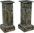 Furniture, A Pair of Empire-Style Gilt Bronze-Mounted Pedestals. 29-5/8 x 12-1/8 x 12-1/8 inches (75.2 x 30.8 x 30.8 cm) (each). ... (Total: 2 Items)