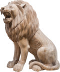 Decorative Arts, Continental:Other , A Carved Wood Lion Sculpture, 20th century 31 ...