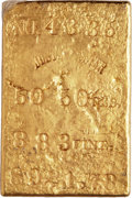 S.S. Central America Gold Bars, Justh & Hunter MS Gold Ingot. 50.50 Ounces....