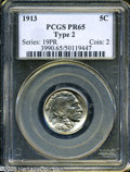 Proof Buffalo Nickels: , 1913 5C Type Two PR65 PCGS....