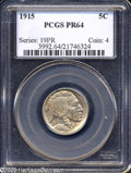 Proof Buffalo Nickels: , 1915 5C PR64 PCGS....