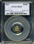 Seated Half Dimes: , 1847 H10C MS65 PCGS....