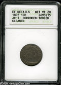 Early Dimes: , 1807 10C--Corroded, Tooled, Cleaned--ANACS. XF Details, NetVF20....