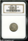 Bust Dimes: , 1821 10C Small Date MS61 NGC....