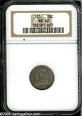 Bust Dimes: , 1831 10C MS62 NGC....