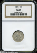 Bust Dimes: , 1835 10C MS63 NGC....