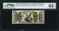 Fractional Currency:Third Issue, Fr. 1334 50¢ Third Issue Spinner PMG Choice Uncirculated 64 EPQ.. ...