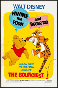 """Winnie the Pooh and Tigger Too! (Buena Vista, 1974) Folded, Fine/Very Fine. One Sheet (27"""" X 41""""). Animation..."""