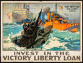 """Movie Posters:War, World War I Propaganda (1917-1919) Folded, Fine/Very Fine. Liberty Loan Poster (29"""" X 39"""") """"Invest in the Victory Liberty Lo..."""