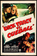 "Movie Posters:Crime, Dick Tracy vs. Cueball (RKO, 1946) Folded, Fine+. One Sheet (27"" X 41""). Crime...."