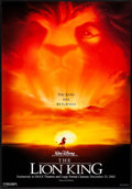 "Movie Posters:Animation, The Lion King (Buena Vista, R-2002) Rolled, Very Fine. IMAX One Sheet (27"" X 40""). DS Advance. John Alvin Artwork. Animation..."