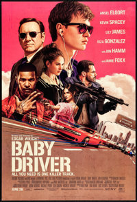"Baby Driver (Tri-Star, 2017) Rolled, Very Fine+. One Sheet (27"" X 40"") DS Advance. Rory Kurtz Artwork. Action..."