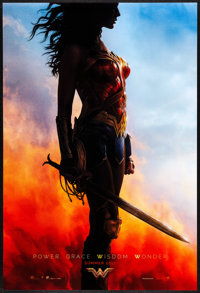 "Wonder Woman (Warner Brothers, 2017) Rolled, Very Fine/Near Mint. One Sheet (27"" X 40"") DS, Standing Style Tea..."