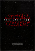 "Movie Posters:Science Fiction, Star Wars: The Last Jedi (Walt Disney Studios, 2017). Rolled, VeryFine. One Sheet (27"" X 40"") DS Teaser. Science Fiction.. ..."