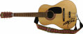 Musical Instruments:Acoustic Guitars, Marty Balin's Autographed First Guitar. A Norma vintage FG-10 acoustic guitar -- the first guitar owned by Jefferson Airplan...