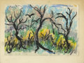 Texas:Early Texas Art - Impressionists, JOSEPHINE MAHAFFEY (American, 1903-1982). Untitled landscape. Oilpastel on paper, mounted on mat board. 7.5in. x 9-3/4in.. ...