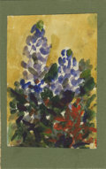 Texas:Early Texas Art - Impressionists, JOSEPHINE MAHAFFEY (American, 1903-1982). Untitled floral.Watercolor and oil on paper, mounted on mat board. 7in. x 4.5in....