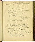 """Movie/TV Memorabilia:Autographs and Signed Items, Clifton Webb Guest Book - """"Mother Her Book."""" Clifton Webb'slife-long devotion to his mother Maybelle was legendary, and thi..."""