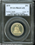 Proof Seated Quarters: , 1875 25C PR64 Cameo PCGS....