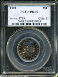Proof Barber Quarters: , 1902 25C PR65 PCGS....