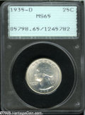 Washington Quarters: , 1935-D 25C MS65 PCGS....