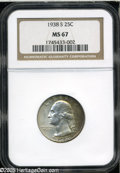 Washington Quarters: , 1938-S 25C MS67 NGC....